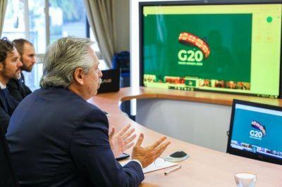 """Alberto Fernández pidió a los líderes del G20 crear un Fondo Mundial de Emergencia Humanitaria: """"El tiempo de los codiciosos ha llegado a su fin"""""""