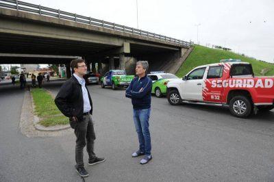 Zabaleta y Ghi supervisaron los controles vehiculares que se realizan en los accesos a Hurlingham y Morón por la cuarentena
