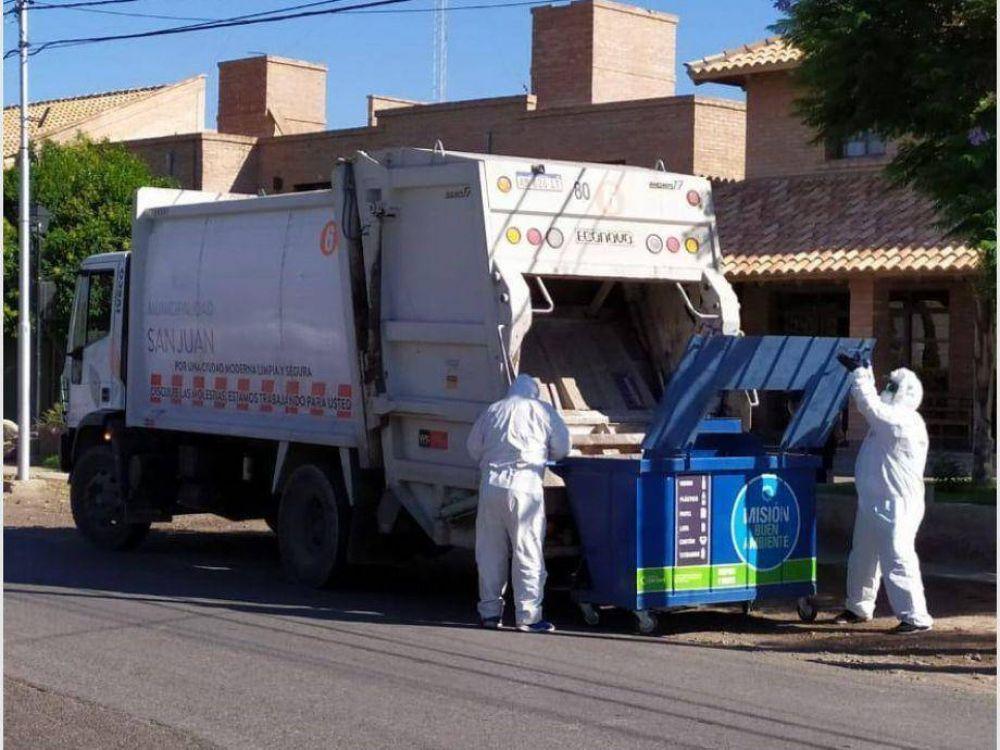 Tratamiento especial para los residuos en los hoteles donde están los sanjuaninos aislados