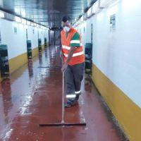 Merlo: Realizan tareas de limpieza y desinfección para combatir el coronavirus