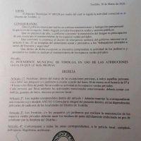 Tordillo: Olivera dispuso una prórroga del vencimiento de tasas