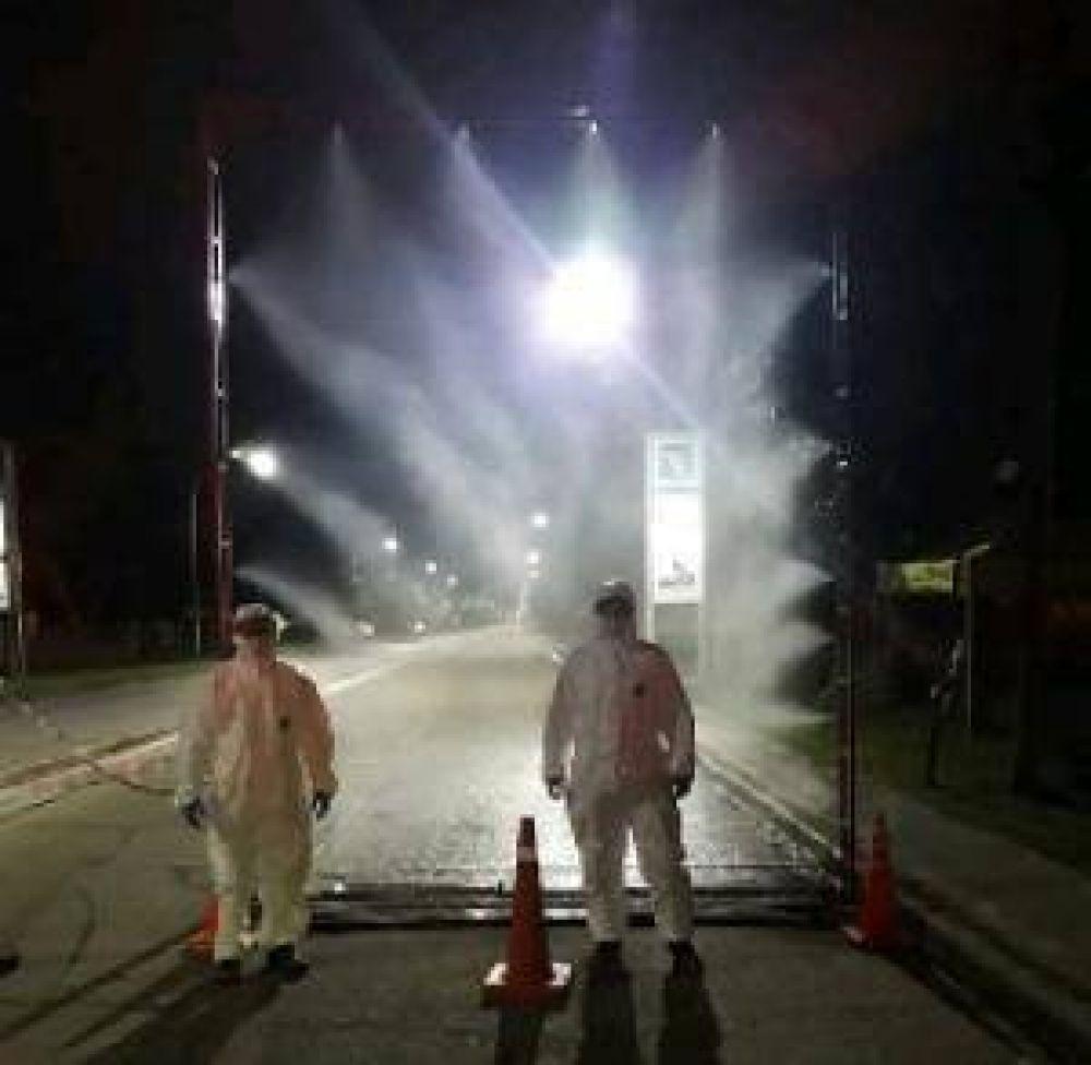 Cacharí: Se instaló un Arco Desinfectante