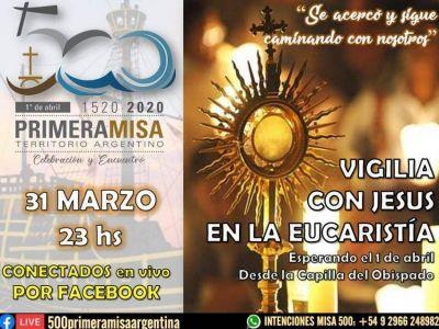 Una vigilia eucarística abre las celebraciones por los 500 años de la primera misa