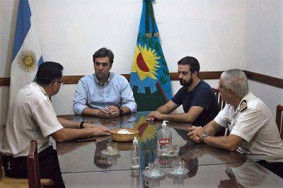 Intendente se reunió con autoridades de las Fuerzas Armadas