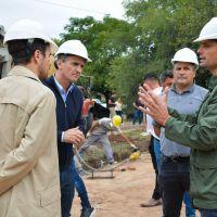 General Rodríguez: García y Katopodis recorrieron la obra del hospital de campaña