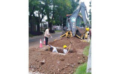 Obra para agua potable en Villa Itatí
