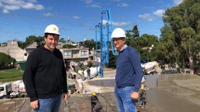 Barrera celebró los avances en las obras del nuevo hospital municipal