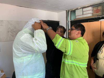 José C. Paz: Ishii entregó equipos de portección al personal de SAME