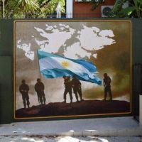 Vicente López inauguró un mural en honor los ex combatientes y caídos en la Gesta de Malvinas