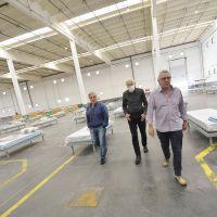 El Dr. Alberto Cormillot y Julio Zamora recorrieron las instalaciones del Centro de Aislamiento de Emergencias de Tigre
