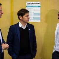 Axel Kicillof visitó el hospital Erill y se reunió con Sujarchuk y su equipo