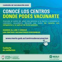 Centro de vacunación en Merlo