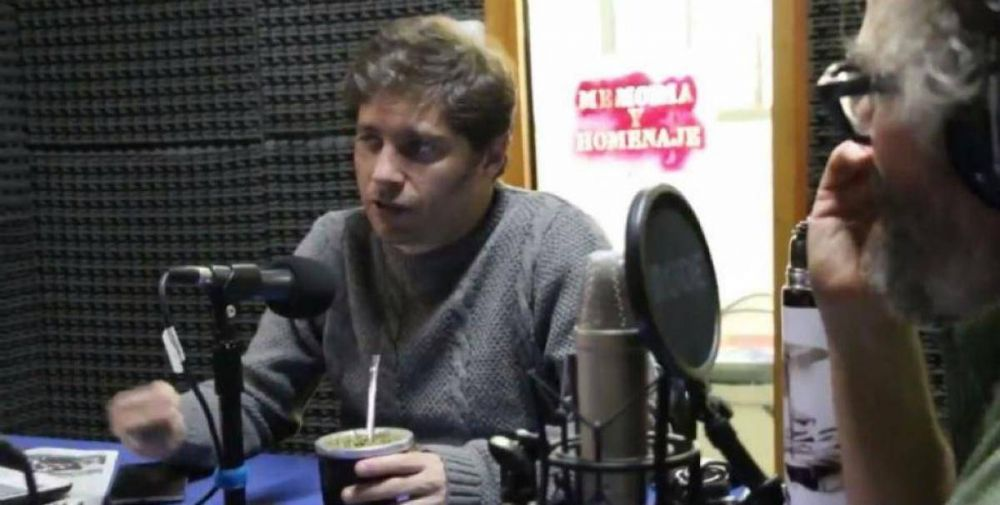 Kicillof conducirá un programa de radio