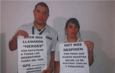 Tercerizada de Aerolíneas Argentinas reincorporó a los despedidos pero ahora los persigue