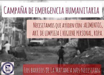 APDH Matanza recibe donaciones para entregar en los barrios del partido