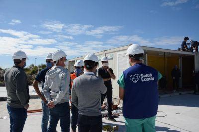 Insaurralde y Katopodis supervisaron la construcción del Hospital de Emergencia