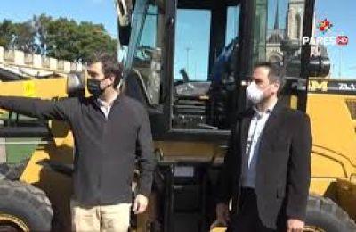 El Ministerio de Ambiente envió maquinaria para los residuos