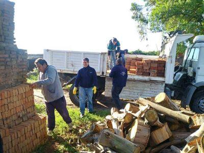 La UOLRA donó 3.000 ladrillos para la construcción del Hospital Modular que se edifica en Mar del Plata