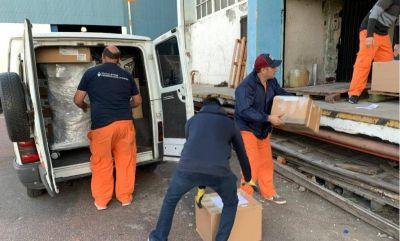 Gremio de Seguridad donó insumos y equipos para luchar contra el Coronavirus