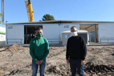 Valenzuela y Zabaleta recorrieron las obras de los Hospitales Modulares de Emergencia