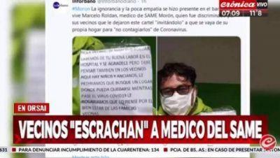 Morón: El miserable pedido que le hicieron sus vecinos a un médico del SAME