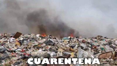 """""""La quema de basura no se toma cuarentena"""""""