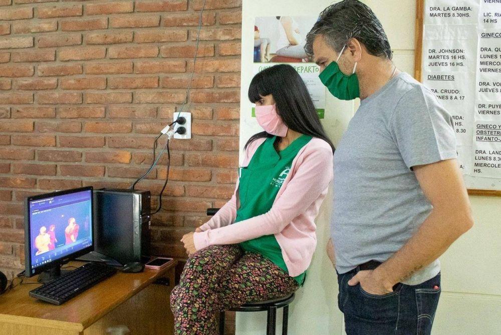 Hurlingham   Se instaló una cámara que detecta la temperatura corporal en el Hospital Municipal