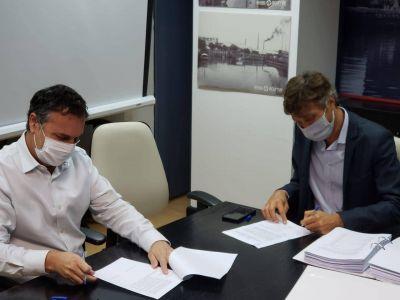 Se firmó el acuerdo para construir una planta de tratamiento en el Parque Curtidor de Lanús