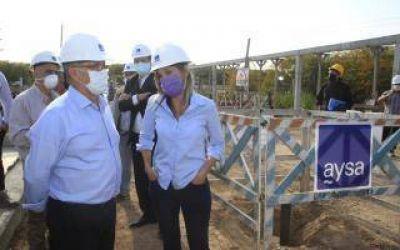 Ituzaingó: Malena Galmarini recorrió la Estación de Bombeo Cloacal con Descalzo y firmó convenio para nuevas obras