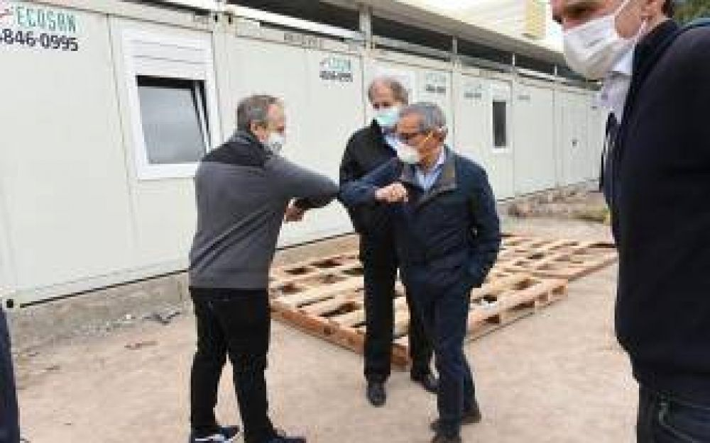 Tres de Febrero: Valenzuela recibió a Katopodis y Galmarini y recorrieron las obras del Hospital Modular de Emergencia