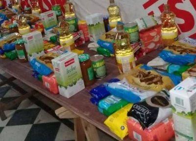 La Juventud Radical de Berisso entregó donaciones de alimentos en distintos barrios