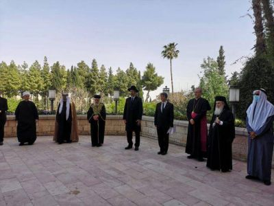 Oración mundial de líderes religiosos que se unieron en Israel para rezar por el fin de la pandemia