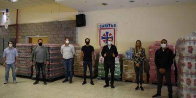 Importante colecta solidaria para los más necesitados de parte de la Juventud Sindical de la CGT