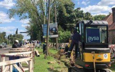 Tigre: AySA repara cañería de agua en Pacheco dañada por una contratista de gas