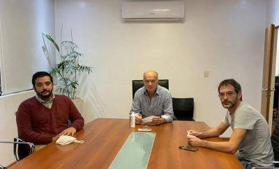 Grindetti recibió a Balladares para avanzar con el uso de las instalaciones de la Clínica Estrada