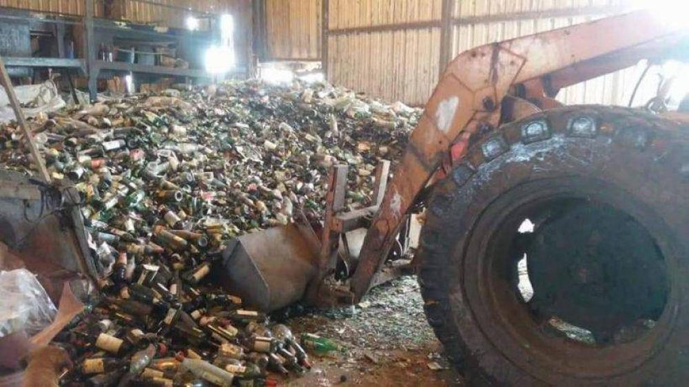EL Parque El Abasto recicló 40 tolenadas de vidrio en lo que va del 2020