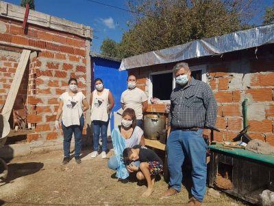 Charquero y Hurtado recorrieron ollas populares en Tigre