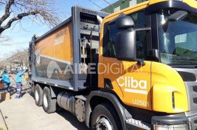 Cliba no recolectará residuos este lunes a la mañana porque aseguran que los camiones están en mal estado