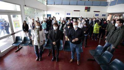 Brown: Kicillof recorrió las obras del Hospital Oñativia