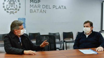 Montenegro recibió a Gustavo Pulti en el COM