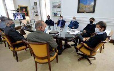 Kicillof se reunió con los intendentes Britos, Rojas, Nosetti, Salazar, Sánchez y Bevilacqua
