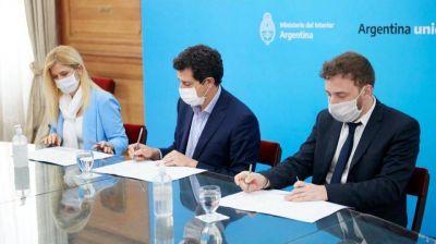 Otermín y Magario firmaron un convenio para habilitar las sesiones virtuales en la Legislatura