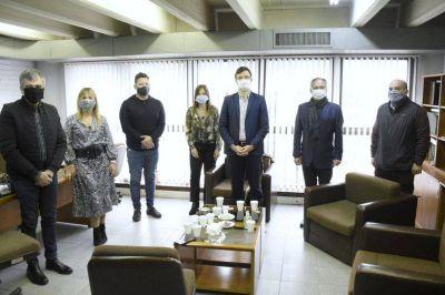 Zabaleta, Ghi, Descalzo y Menéndez se reunieron con funcionarios del Departamento Judicial de Morón