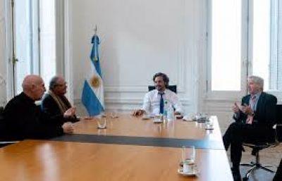 Cafiero y Solá se reunieron con la Conferencia Episcopal Argentina