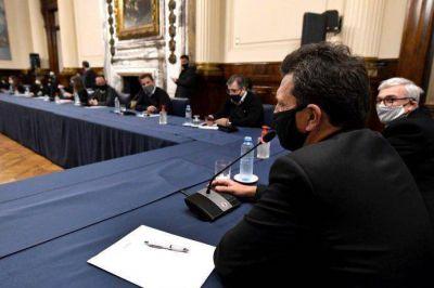 Diputados: Massa y jefes de bloque se reúnen para fijar agenda de primera sesión virtual
