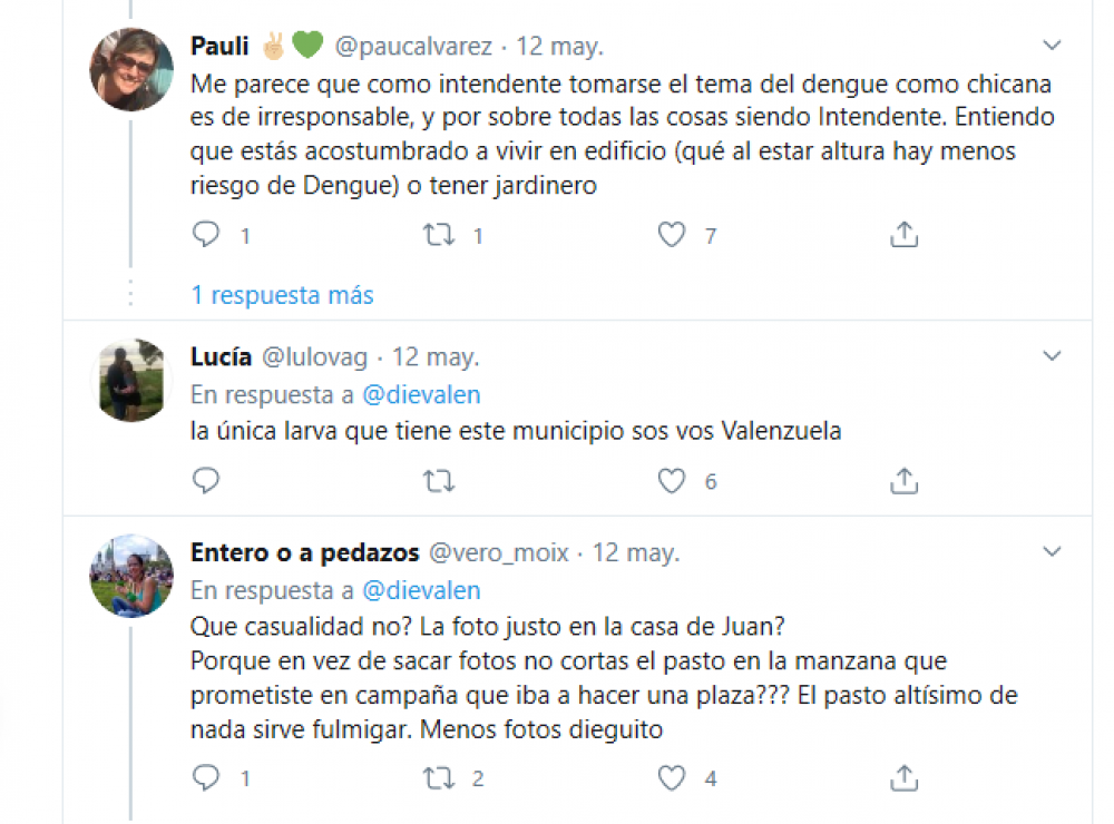 Tres de Febrero: Duras críticas a Diego Valenzuela por chicana contra Debandi