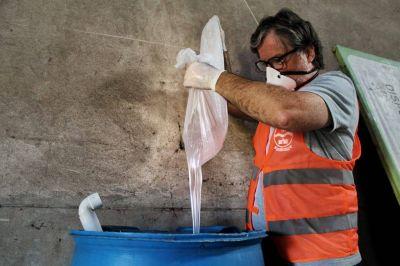 Nueva producción de alcohol en gel para los centros de salud