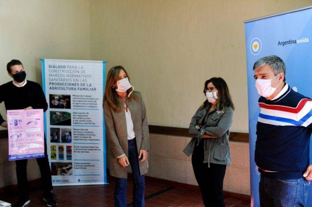 Zabaleta y Victoria Tolosa Paz participaron de una capacitación a referentes de comedores sobre manipulación de alimentos e higiene