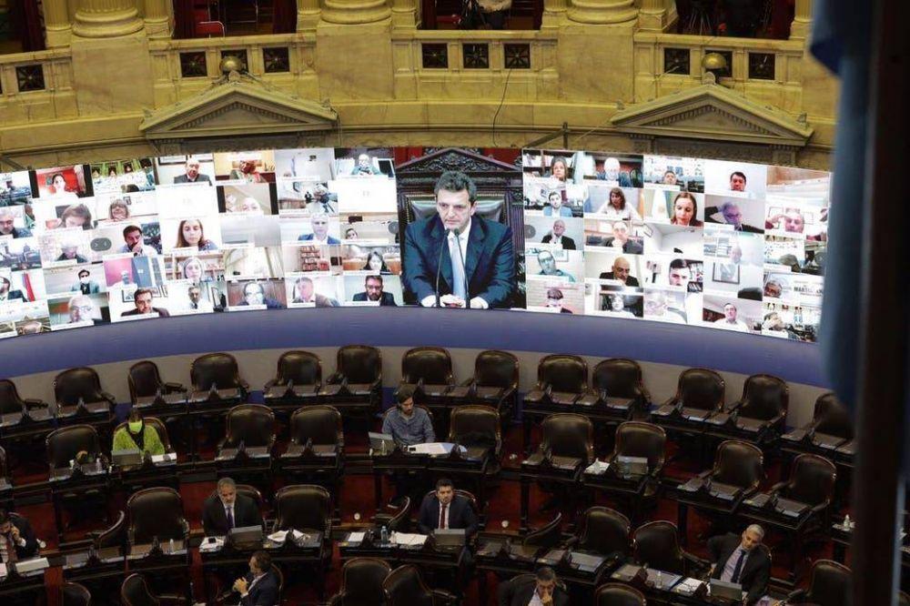 Fuerte polémica por los superpoderes en la primera sesión virtual en Diputados