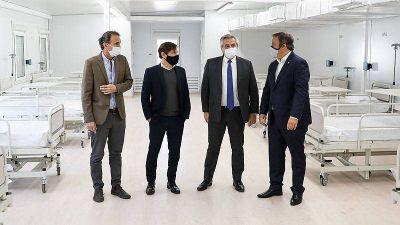 Coronavirus: El presidente recorrió el nuevo Hospital Modular de Emergencia de Almirante Brown